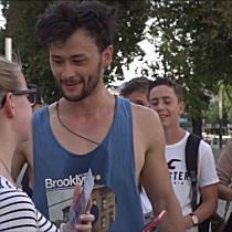 Spontankonzert von Wendja auf der Mariahilfer Straße