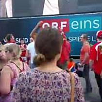 Public Viewing in Wien: Island gegen Österreich - Österreich Fans
