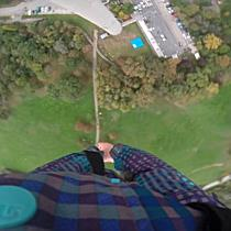 Bungee Jumping am Wiener Donauturm