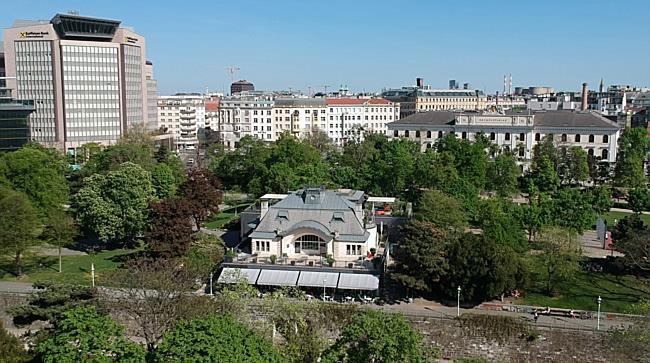 Drohnenflug über den Wiener Stadtpark