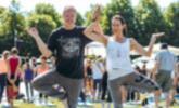 Bei der Joya Yoga Convention im Augarten