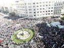 Demonstrationen gegen die USA in Syrien.