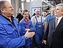 Kanzler Faymann besucht die ÖBB-Frühschicht