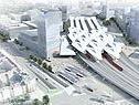 Visualisierung des neuen Hauptbahnhofs
