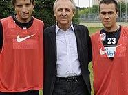 Austria-Trainingsauftakt: Petr Vorisek, Thomas Parits, Michael Liendl