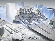 Der neue Hauptbahnhof wird mit einer Standseilbahn erschlossen