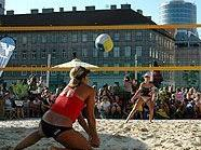 Beachvolleyball in der Strandbar Herrmann