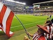 Athletik-Fans im San Mames Stadion von Bilbao