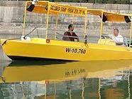 Das gelbe Wassertaxi soll ab April 2010 am Donaukanal unterwegs sein