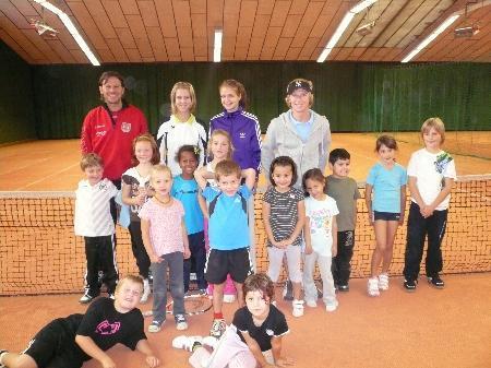 Die Kids des UTC Dornbirn hatten viel Spaß in der Ballschule.