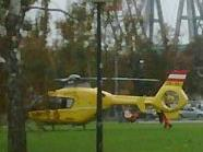 Helikoptereinsatz am Praterstern in Wien