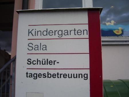 Planänderung für Kindergarten Sala: Umzug erst Ende des Kindergartenjahres.