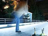Eine von vielen Attraktionen: Eisstockschießen im MQ.