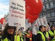 GPA-Aktion der Handels-Betriebsräte in der Inneren Mariahilferstraße