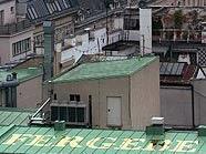 """Michail Michailov: """"Ich fergebe dir"""", Goldfolie auf Dach"""