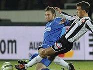 Ronald Gercaliu (Wiener Neustadt) gegen Florian Metz (LASK Linz)