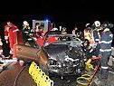Verunglückter Pkw von nachkommendem Auto gerammt