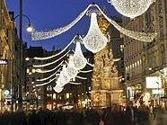 Wiener Einkaufsstraßen sehr belebt