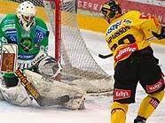 Capital Casparsson scheitert an Olimpija-Goalie Pintaric
