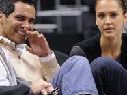 Cash Warren mit Ehefrau Jessica Alba