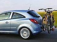 Das Fahrradträgersystem FlexFix als Schnittstelle zwischen Auto und Fahrrad.