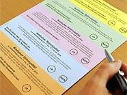 Der umstrittene Stimmzettel.