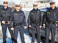 Die Polizeibeamten konnten den mutmaßlichen Serientäter dingfest machen.