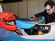 Michael Schumacher im GP2-Boliden in Jerez De La Frontera