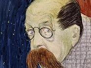 Peter Altenberg in einem Porträt von Gustav Jagerspacher