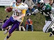 Luke Atwood (l.) spielte sieben Saisonen für die Vikings