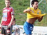 Sebastian Martinez jubelt über sein 1:0 gegen St. Pölten