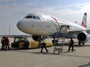 AUA-Maschine am Flughafen Wien