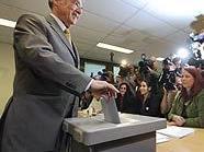BP Heinz Fischer bei der Stimmabgabe in Wien