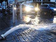 Aufgrund der heftigen Regenfälle kam es am Donnerstag in Wien zu Überschwemmungen.