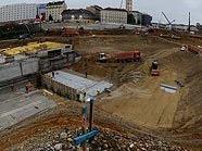 Baustelle Hauptbahnhof im Mai 2010