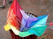 Bis Freitag sollte der Regenschirm eher nicht kaputt werden.