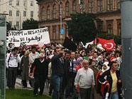 Der Großteil der Proteste ging friedlich über die Bühne.