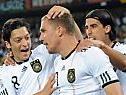 Die bärenstarken Deutschen freuten sich über Sieg