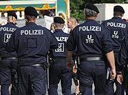Polizei auf der Donauinsel