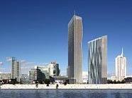 Visalisierung der geplanten DC Towers in Wien-Donaustadt