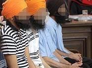 Angeklagte im Ravidass-Prozess