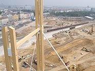 Blick vom Aussichtsturm auf die Hauptbahnhof-Baustelle