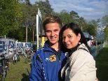 Julian Lipburger mit Mutter Patricia ein großes Zukunftsversprechen.