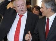BK Werner Faymann (r.) und Wiens Bürgermeister Michael Häupl