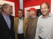 Helmut Marko, Jacky Ickx, Niki Lauda and Gerhard Berger