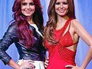 Cheryl Cole neben ihrem Ebenbild aus Wachs von Madame Tissaud's.