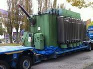 Der 70 Tonnen schwere Trafo.