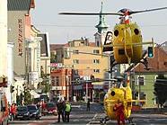 Hubschrauber brachten die verletzten Kinder in Spitäler
