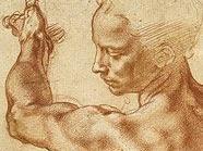 Michelangelo Buonarroti, Studien für die »Libysche Sibylle«, 1511/12