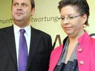 Vizekanzler Josef Pröll und ÖVP-Spitzenkandidatin Christine Marek